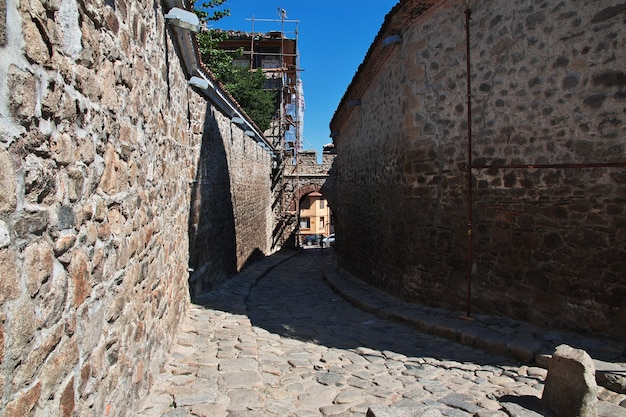 De vintage straat in plovdiv bulgarije