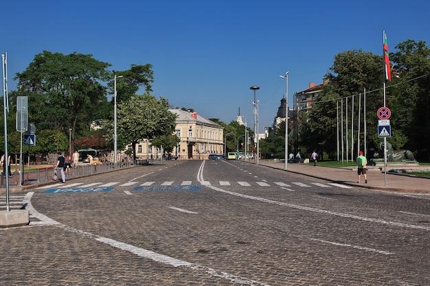 De vintage straat in sofia, bulgarije