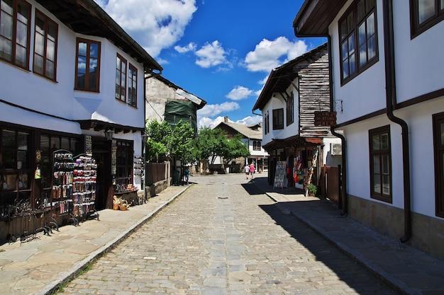 De vintage straat in tryavna bulgarije