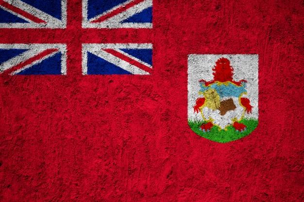 De vlag van de bermudas op de grunge concrete muur