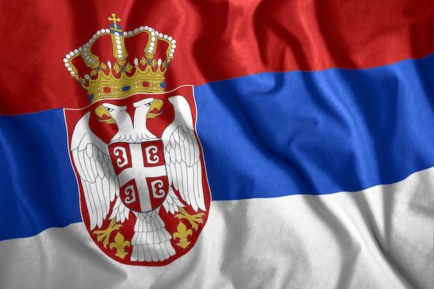 De vlag van servië