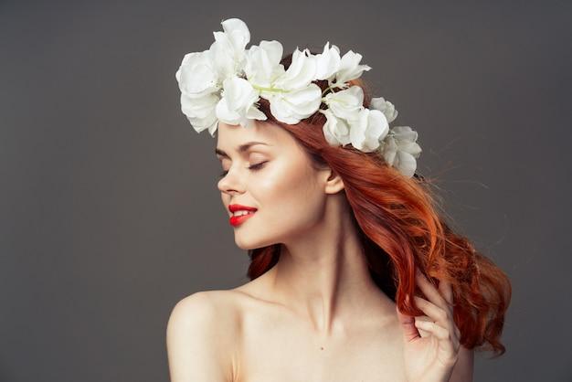 De vrouw bloeit portretstudio
