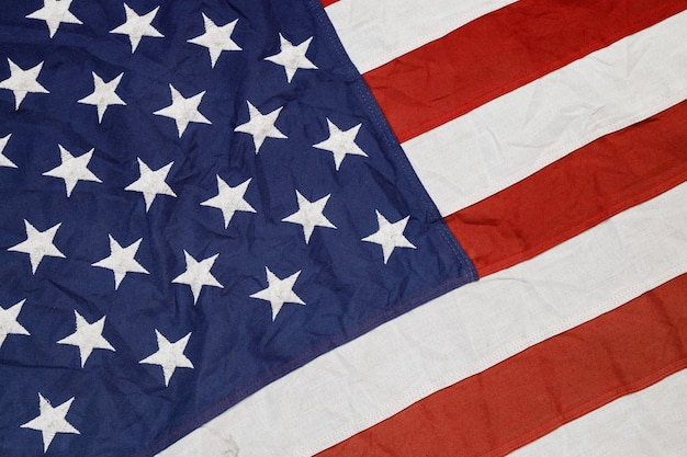 De wapperende nationale usa amerikaanse vlag.