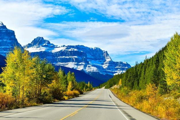 De weg 93, snelweg in alberta, canada