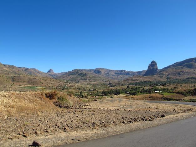 De weg in het land van ethiopië, afrika