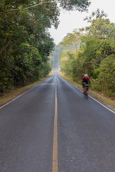 De weg in khoa yai national park, thailand
