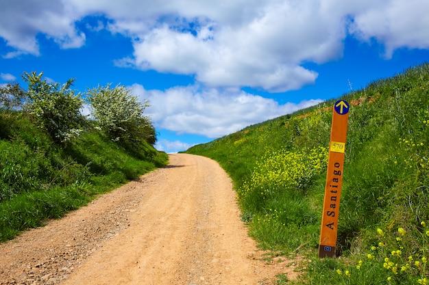 De weg van saint james track 570 km naar santiago