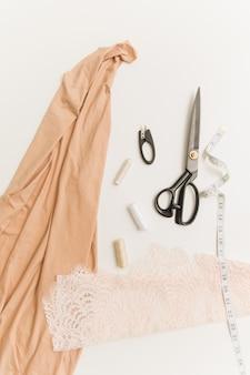 De werkplek van een naaister.