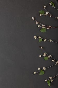 De wilgentakken zijn een symbool van het christelijke pasen.