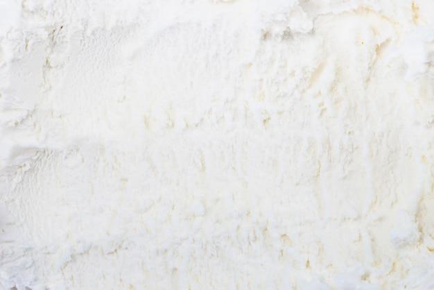 De witte bevroren achtergrond van de roomijstextuur