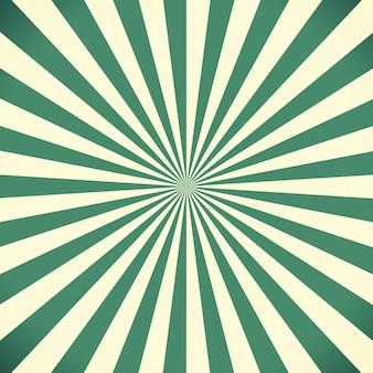 De witte en groene achtergrond van het zonnestraalpatroon