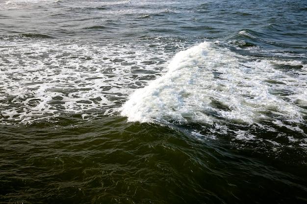 De zeekust van de koude oostzee