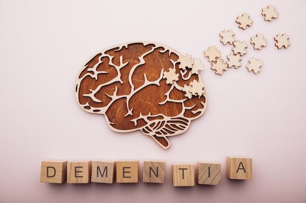 De ziekte van alzheimer dementie en geestelijke gezondheid concept