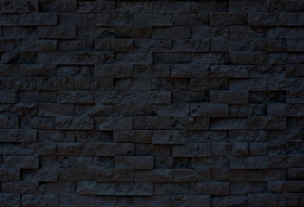 De zwarte textuur van het steenpatroon voor achtergrond