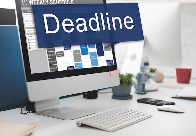 Deadline afspraak laatste tijd the end countdown urgentie concept