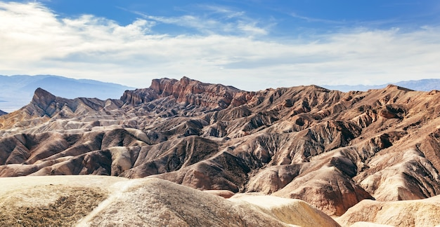 Death valley badland landschap. californië, vs.
