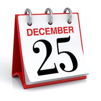 December kalender 3d-rendering