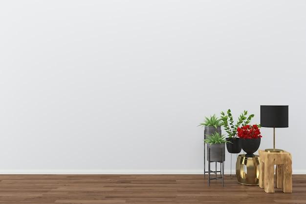 Decor hout lamp vloer kamer interieur boom vaas achtergrond sjabloon