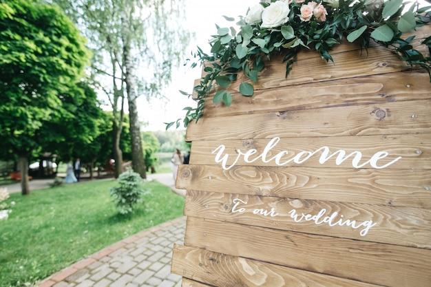 Decor huwelijksuitnodiging
