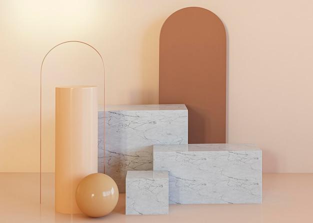 Decoratie geometrische vormen achtergrond