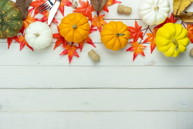 Decoratie happy halloween of thanksgiving day achtergrond