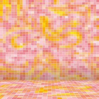 Decoratie kleurrijke glasmozaïek kunst en abstracte muur