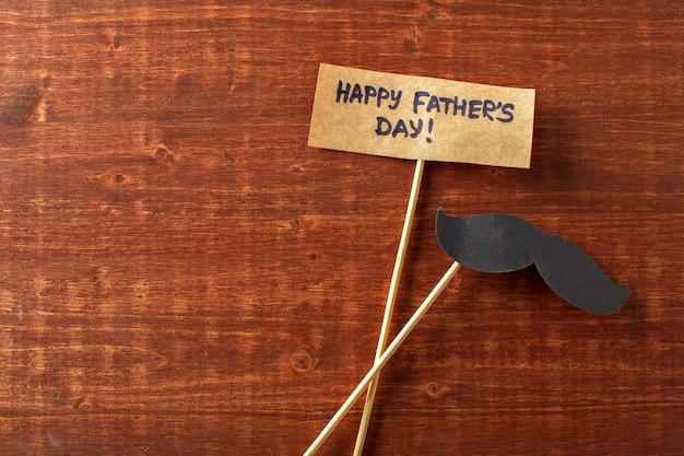 Decoratie op papier met dag van de tekst gelukkige vaders