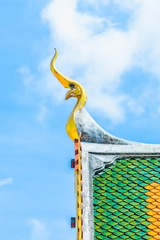 Decoratie thailand religieuze blauwe top