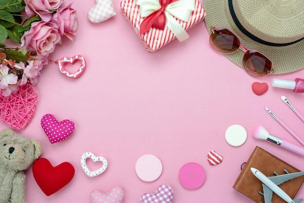 Decoratie valentijnsdag achtergrond.