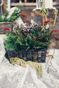 Decoratie van de huwelijksceremonie
