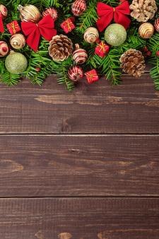 Decoratie van de kerstboom grens