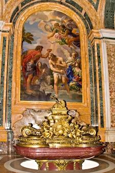 Decoratie van de sint-pietersbasiliek, vaticaan, rome, italië
