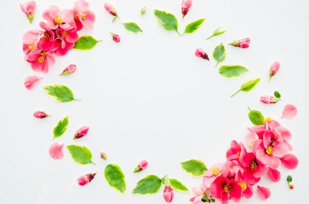 Decoratief frame van bloemen