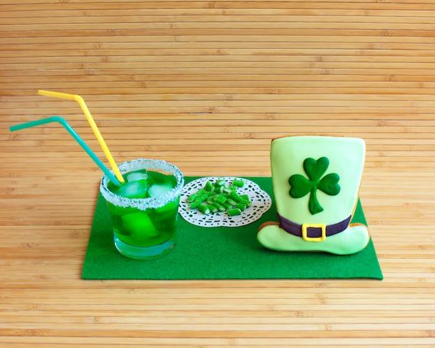 Decoratief koekje. st. patrick's day concept