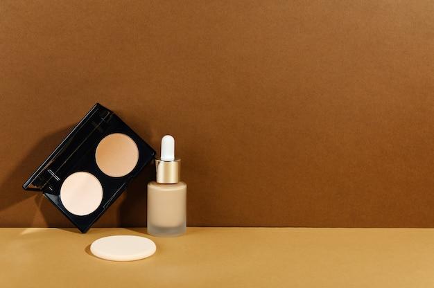 Decoratieve cosmetica voor gezichtshuidcorrectie voor professionele make-up