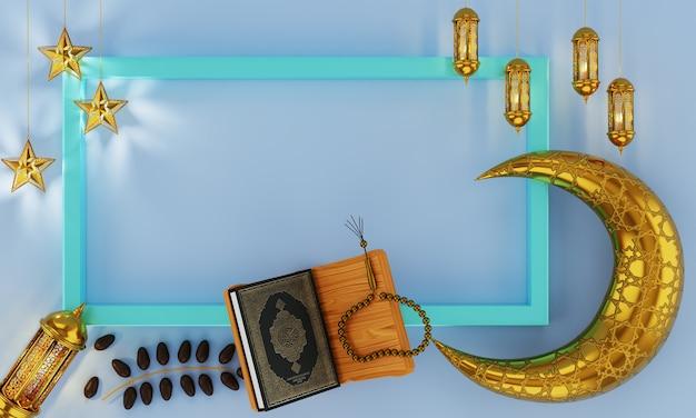 Decoratieve hanglamp, lichtlantaarn, gouden sterren aan lint en gouden wassende maan
