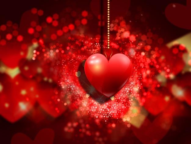 Decoratieve hart achtergrond voor valentijnsdag