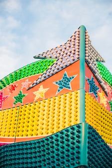 Decoratieve multi gekleurde gloeilampen van carrousel