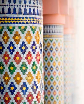 Decoratieve pilaren uit marrakesh