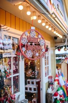 Decotation van kerstmis in kopenhagen bij park tivoli