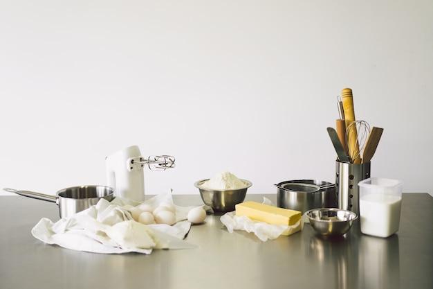 Deegbereiding recept brood pizza of taart maken ingrediënten koken taart landelijke of rustieke stijl