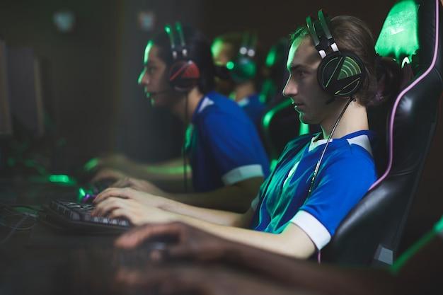 Deelnemers van de videogameclub