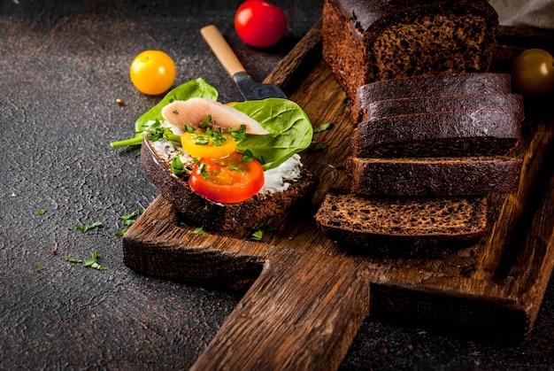 Deens open broodje