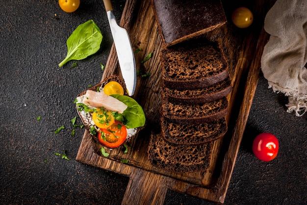 Deense open sandwich smorrebrod