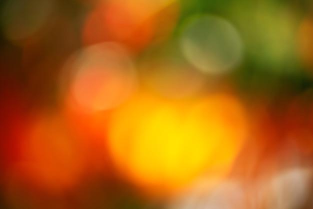 Defocus wazig herfst natuurlijke achtergrond bestaat uit kleurrijk gebladerte. herfst natuurlijke bokeh.