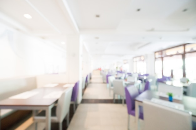 Defocused restaurant