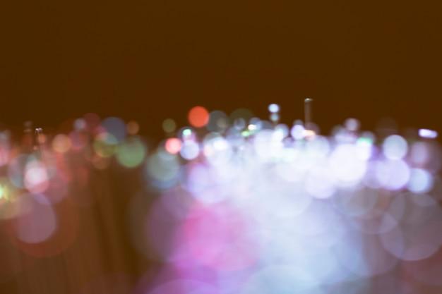 Defocused stoffige lichten op optische vezels
