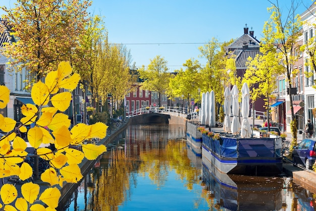 Delft oude stad in nederland