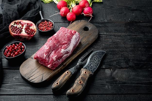 Delicatessen voorgerecht van vers vlees
