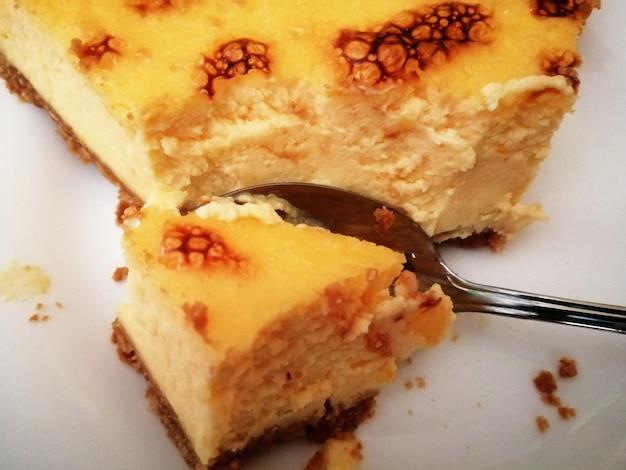 Delicioso pastel de queso